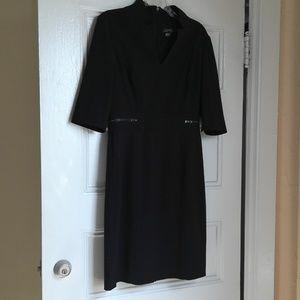 Tahari Arthur S Levine Notch Collar Sheath Dress